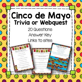 FREE Cinco de Mayo Trivia or Webquest Fun activity