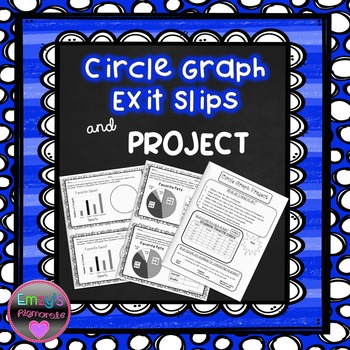 FREE-Circle Graph Exit Slips and Project (SOL 6.14)