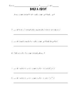 FREE Circuit PBL Worksheet