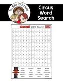 FREE Circus Word Search