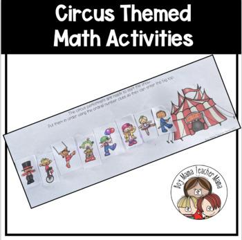 FREE Circus Themed Math Activities