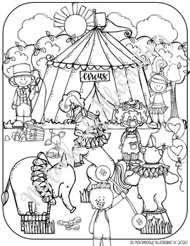 Free Printable Circus Coloring Pages For Kids | 350x270