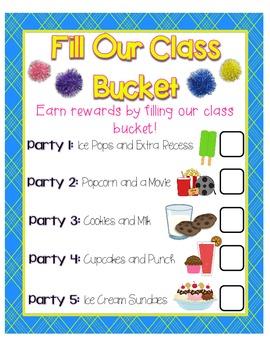 {FREE} Class Bucket Filling Reward Charts