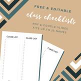 FREE Class Checklist Printable