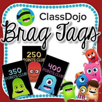 FREE Class Dojo Brag Tags