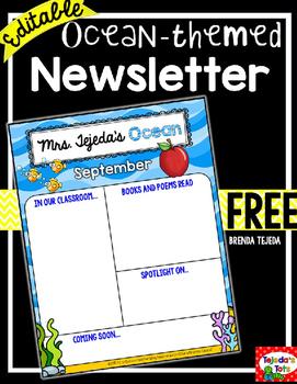 FREE Class Newsletter: EDITABLE