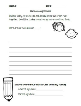 FREE Class Rules Agreement