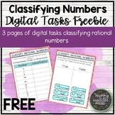 FREE Classifying Rational Number Digital Tasks