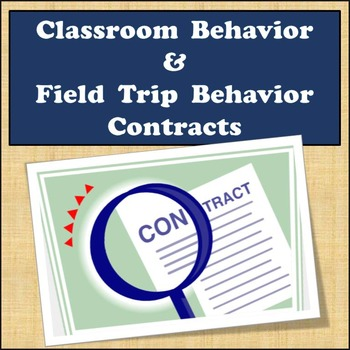Free - Classroom Behavior Contract - Field Trip Behavior Contract