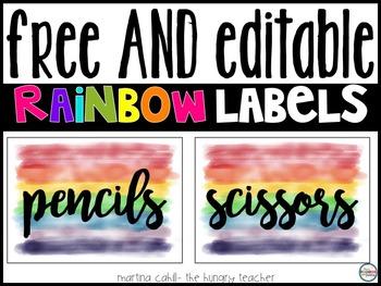 FREE Classroom Decor Labels {Editable}