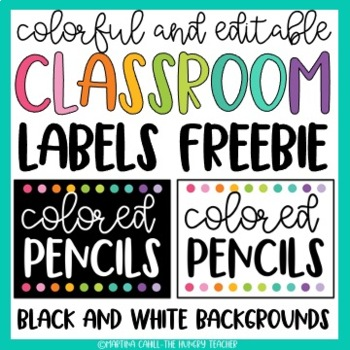 free classroom decor labels editable black and white options tpt