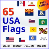 FREE - U.S. States | USA Star Spangled Banner Flag Poster