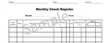 FREE Classroom Economy Check Register Sheet
