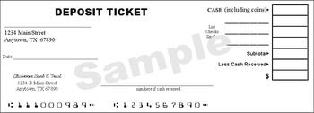 FREE Classroom Economy Deposit Slips (4 per page - Total of 16) | TpT