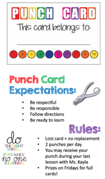 FREE Classroom Expectations Incentive