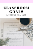 FREE Classroom Goals Sign (based on the Hygge Oath)
