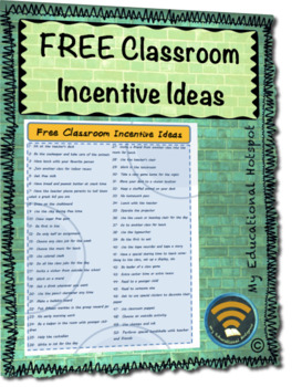 FREE Classroom Incentive Ideas (w/ Individual Tickets for Extrinsic Motivators)