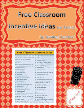 FREE Classroom Incentive Ideas (w/ individual tickets) for