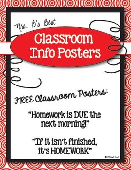 FREE Classroom Info Posters