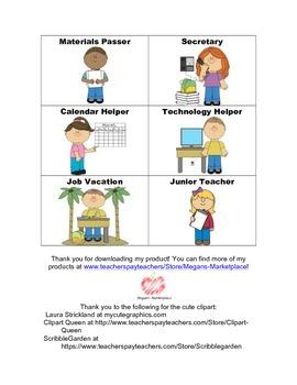 FREE Classroom Jobs