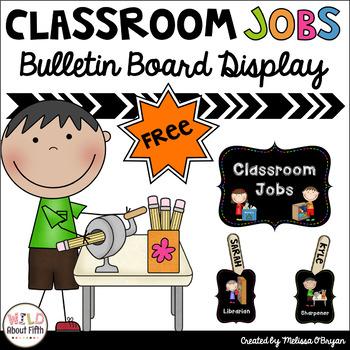 FREE Classroom Jobs Bulletin Board Set