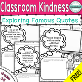 FREE Classroom Kindness with Quotes #kindnessnation #weholdthesetruths