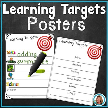 FREE Classroom LEARNING TARGETS Poster by Teacher's Brain