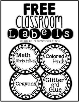 FREE Classroom Labels!