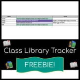 FREE Classroom Library Check-out Tracker