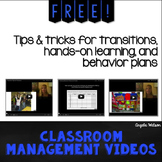 FREE Classroom Management Videos: Tips and tricks for tran