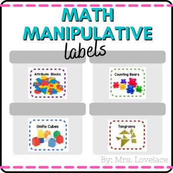 **FREE** Classroom Math Manipulatives Labels
