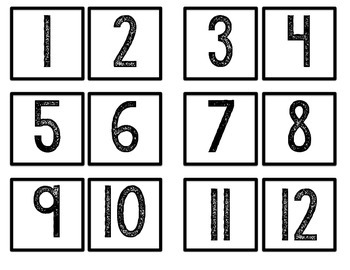 FREE Classroom Numbers 1-60