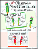 FREE Classroom Pencil Container Labels