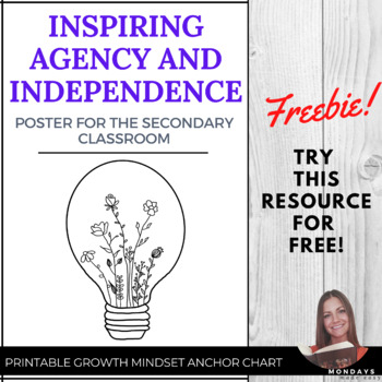 FREE Classroom Poster: Inspire Agency and Independent Learning