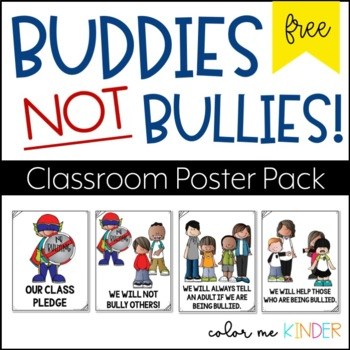 FREE Bully Free Zone Classroom Poster Pack