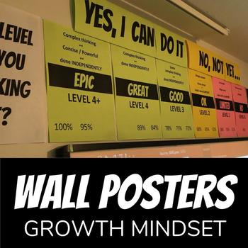FREE Classroom Posters - Marks - Levels - Growth Mindset