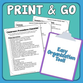 Classroom Procedures and Routines
