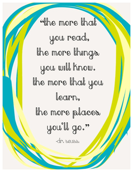 FREE Classroom Quote: Dr. Suess