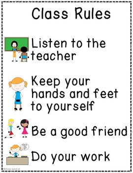 FREE Classroom Rules, Posters, and Anchor Charts for Special Education