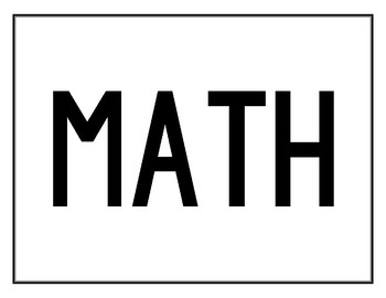 FREE Classroom Sign Pack