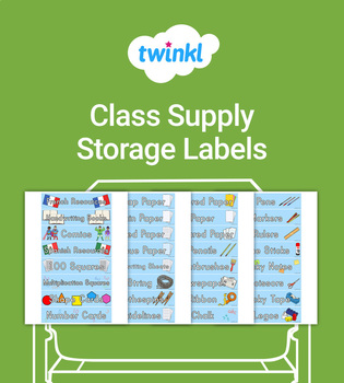 FREE Classroom Supplies Storage Labels
