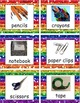 FREE Labels - Classroom Supplies SAMPLE in Rainbow Glitter