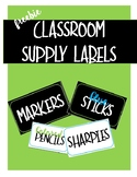 FREE Classroom Supply Lables