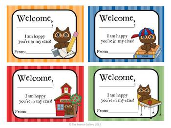 FREE Classroom Welcome Tags