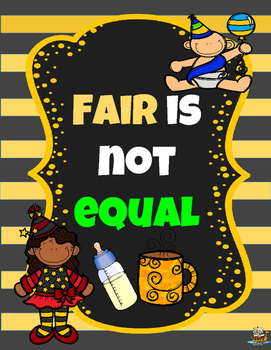 FREE Classrooom Management Posters Fair is not Equal