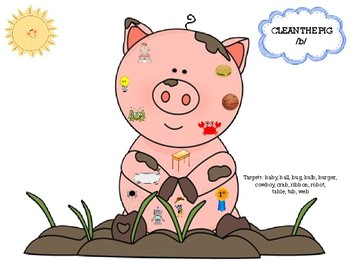 FREE Clean the Pig /b/ articulation activity