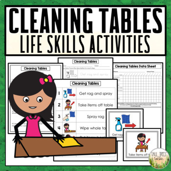 FREE Cleaning Tables Life Skills Activities