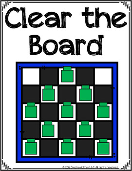 FREE Clear the Board Place Value Center