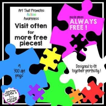 FREE Clip Art: 9 Solid Puzzle Piece Graphics