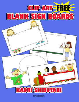 FREE Clip Art: Blank Sign Boards